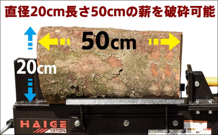 12トン薪割り機